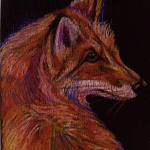 Art: Red Fox by Artist Camille Meeker Turner
