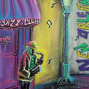 Art: New Orleans Jazz Fest by Artist Laura Barbosa