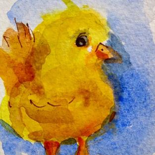 Art: Fat Little Chick by Artist Delilah Smith