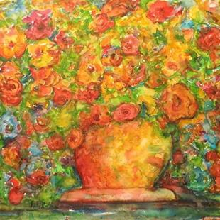 Art: Abstract Roses Bouquet by Artist Ulrike 'Ricky' Martin