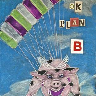 Art: Plan B Flying Pig by Artist Alma Lee