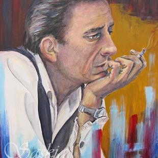 Art: Johnny Cash by Artist Saskia Franken-Saers