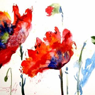 Art: Poppy Splash by Artist Delilah Smith