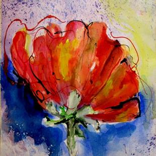 Art: Large Poppy by Artist Delilah Smith