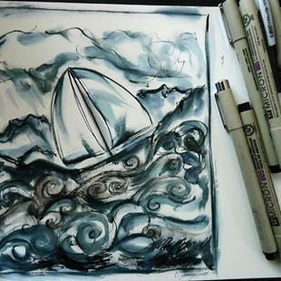 Art: Solitude, Storms: 100 Days at Sea by Artist Chris Jeanguenat