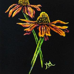 Art: Daisies II (SOLD) by Artist Monique Morin Matson