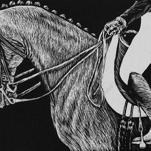 Art: Dressage Horse  (SOLD) by Artist Monique Morin Matson