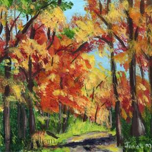 Art: Autumn Pathway ACEO by Artist Janet M Graham
