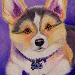 Art: custom dog portrait 011 by Artist Camille Meeker Turner