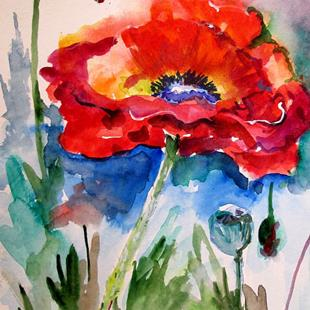 Art: Beautiful Poppy by Artist Delilah Smith