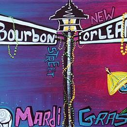 Art: Mardi Gras Celebration by Artist Laura Barbosa