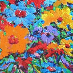 Art: Impasto Floral Abstract by Artist Ulrike 'Ricky' Martin