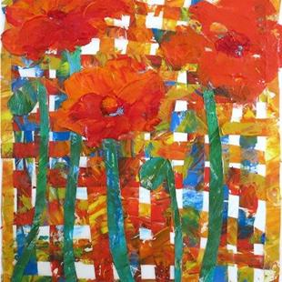 Art: Poppy Collage by Artist Ulrike 'Ricky' Martin