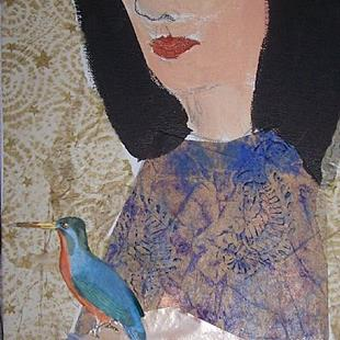 Art: The Bluebird of Happiness SOLD by Artist Nancy Denommee
