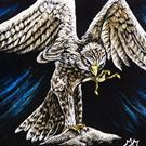 Art: Kestrel  (SOLD) by Artist Monique Morin Matson