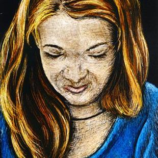 Art: Young Woman  (SOLD) by Artist Monique Morin Matson