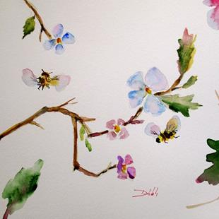 Art: Blossoms and Bees by Artist Delilah Smith