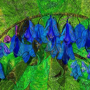 Art: Blue Bells Beckon by Artist Alma Lee