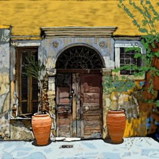 Art: Old Door by Artist Joan Hall Johnston