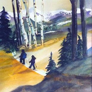 Art: One Step at a Time (sold) by Artist Kathy Crawshay