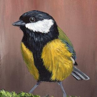 Art: Great Tit ACEO by Artist Janet M Graham