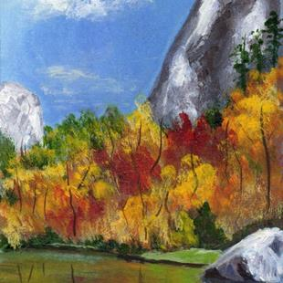 Art: Autumn Reflections ACEO by Artist Janet M Graham