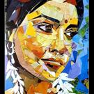 Art: Flower girl by Artist Parag Pendharkar