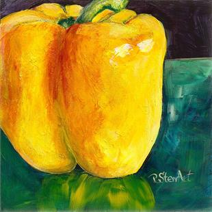 Art: Big Yellow Pepper by Artist Penny StewArt