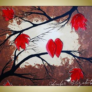 Art: I Love You in Red (sold) by Artist Amber Elizabeth Lamoreaux