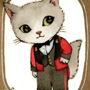 Art: The Suitor ACEO by Artist Carmen Medlin
