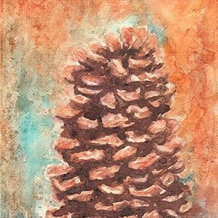Art: Pinecone by Artist Ulrike 'Ricky' Martin