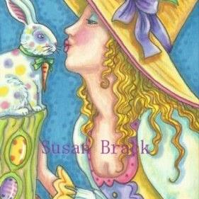 Art: SOME EASTER MAGIC by Artist Susan Brack
