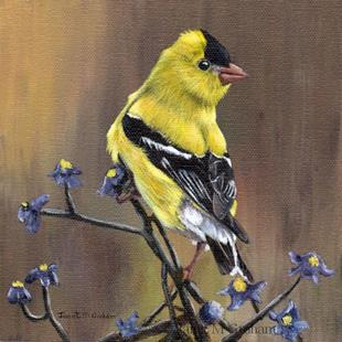 Art: American Goldfinch by Artist Janet M Graham