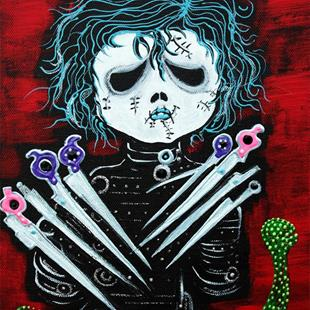 Art: Scissorhands by Artist Laura Barbosa