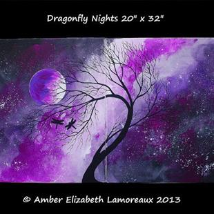 Art: Dragonfly Nights (sold) by Artist Amber Elizabeth Lamoreaux