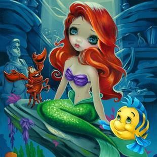 Art: Part of Your World - the Little Mermaid ©Disney by Artist Jasmine Ann Becket-Griffith