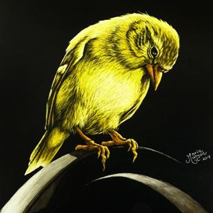 Art: American Gold Finch  (SOLD) by Artist Monique Morin Matson