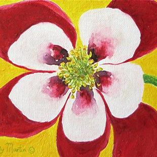 Art: Colorado Columbine - sold by Artist Ulrike 'Ricky' Martin