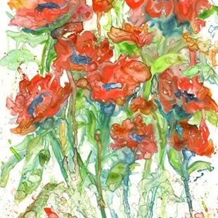 Art: Abstract Poppies by Artist Ulrike 'Ricky' Martin