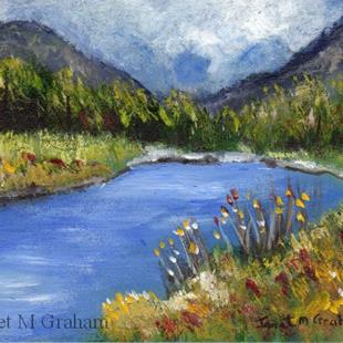 Art: Spring River ACEO by Artist Janet M Graham