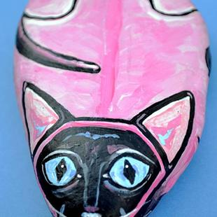 Art: Rock Cat Pinky Siamese by Artist Melinda Dalke