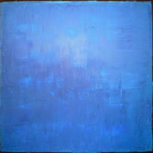Art: Blue Abstraction 100x100x4 by Artist Luba Lubin