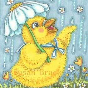 Art: APRIL SHOWERS BRING MAY FLOWERS by Artist Susan Brack