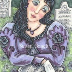 Art: BLACK ROSE by Artist Susan Brack