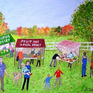 Art: The Farmers' Market  (Commission) by Artist Fran Caldwell