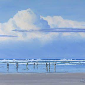 Art: Clamming Weather by Artist Carol Thompson