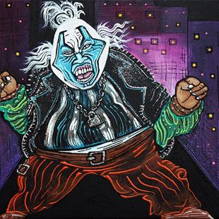Art: Blue Faced Clown by Artist Laura Barbosa