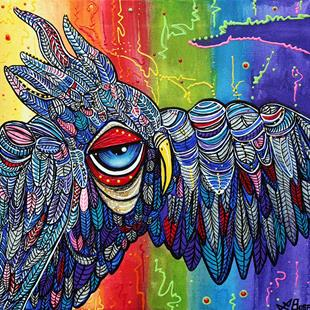 Art: Street Wise Owl 2 by Artist Laura Barbosa