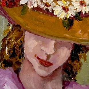 Art: Flowers on My Hat by Artist Delilah Smith