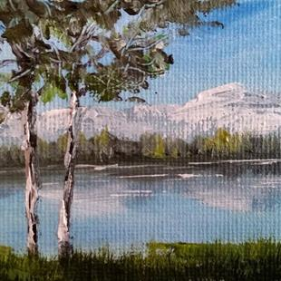 Art: Trees By The Water, 2014 by Artist Kimberly Vanlandingham